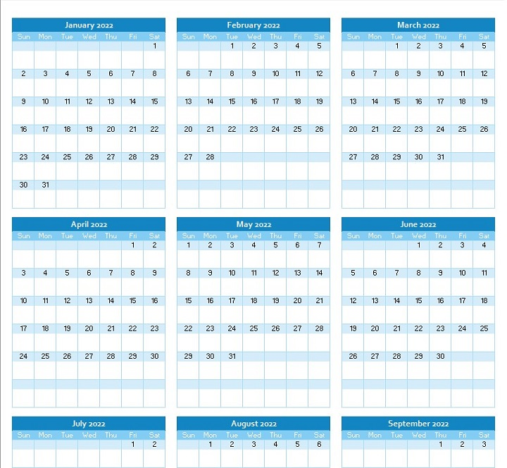 yearly calendar planner