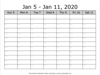 Weekly Calendar with Time Slots 01