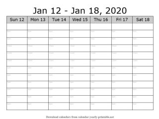 Weekly Calendar with Time Slots 02
