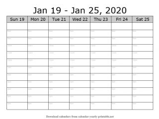 Weekly Calendar with Time Slots 03
