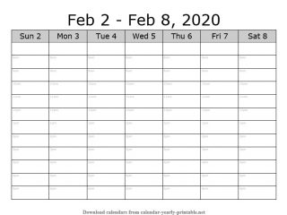 Weekly Calendar with Time Slots 05