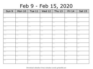 Weekly Calendar with Time Slots 06