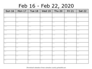 Weekly Calendar with Time Slots 07