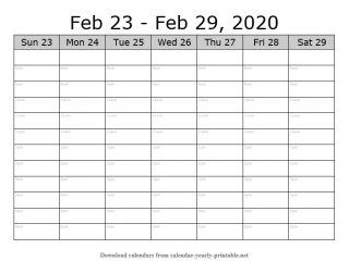 Weekly Calendar with Time Slots 08