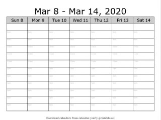 Weekly Calendar with Time Slots 10