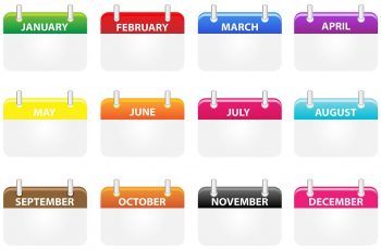 Yearly Calendar Dates